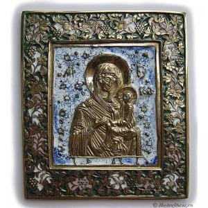 2.2.25 Медная икона Тихвинская Богородица