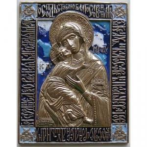 2.3.8 Икона медная Богоматерь Владимирская