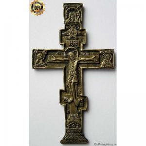 3.15 Малый медный киотный крест Распятие Христово. 18-19вв.