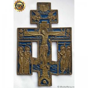 3.16 Медный крест Распятие Христово,Север,18-19в.
