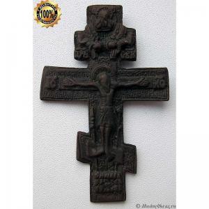3.19 Медный крест Распятие Христово,18в.