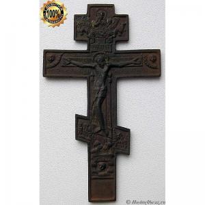 3.22 Медный крест Распятие Христово, 19в.