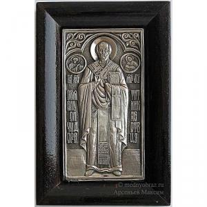 3.27 Серебряная икона Николай Чудотворец