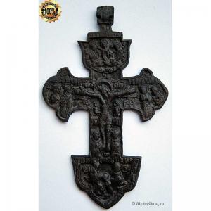 3.31 Крест бронзовый Распятие Христово, 18в.