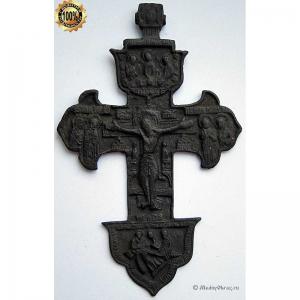 3.33 Бронзовый крест Распятие Христово, 18в.