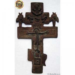 3.42 Крест киотный Распятие Христово, 19в.