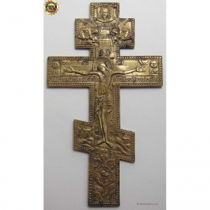3.52 Медный крест Распятие Христово,19в.