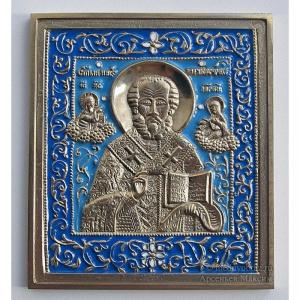 3.55 Икона медная Николай Чудотворец