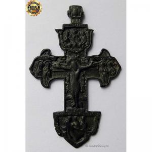 3.55 Бронзовый крест Распятие Христово,18в.