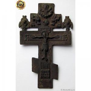 3.58 Крест киотный Распятие Христово, 19в.