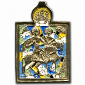 3.77 Медная икона Благоверные князья Борис и Глеб