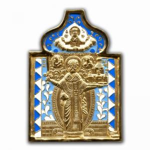 3.78 Медная икона Николай Можайский