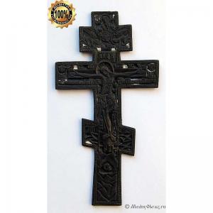 3.9 Медный киотный крест Распятие Христово,растительный орнамент