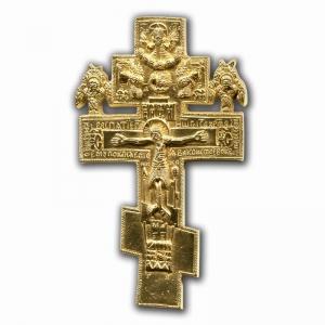 4.2.26 Крест малый медный Распятие Христово с херувимами