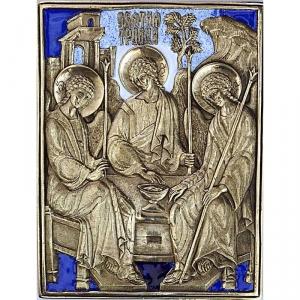 6.14 Медная икона Святая Троица
