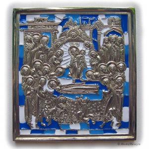 6.37 Медная икона Успение Пресвятой Богородицы