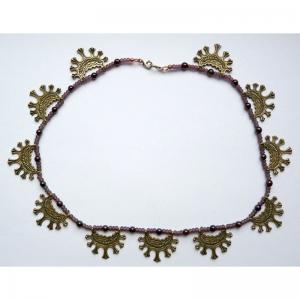 79. Женственное и аккуратное ожерелье, из колец вятичей