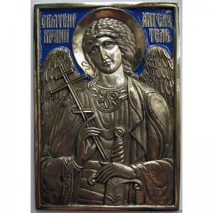 8.20 Икона медная Святой Ангел Хранитель