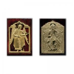Современные врезные бронзовые иконы (ставротека-иконостас) №13