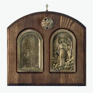 Современные врезные бронзовые иконы (ставротека-иконостас) №14